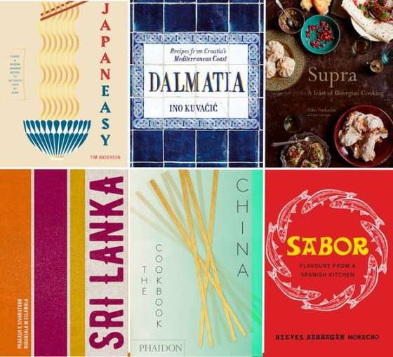 A composite of six cookbooks