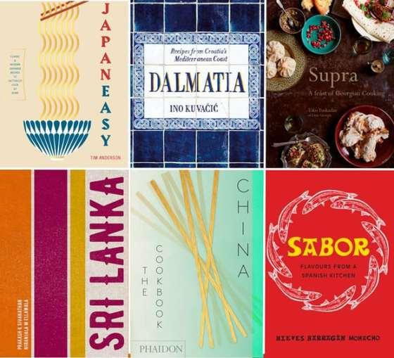 A composite of six cookbooks